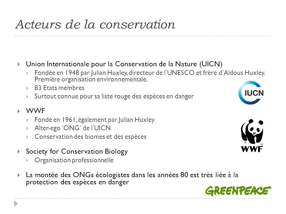 Acteurs de la conservation