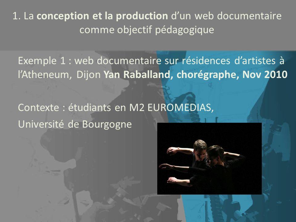 Contexte : étudiants en M2 EUROMEDIAS, Université de Bourgogne