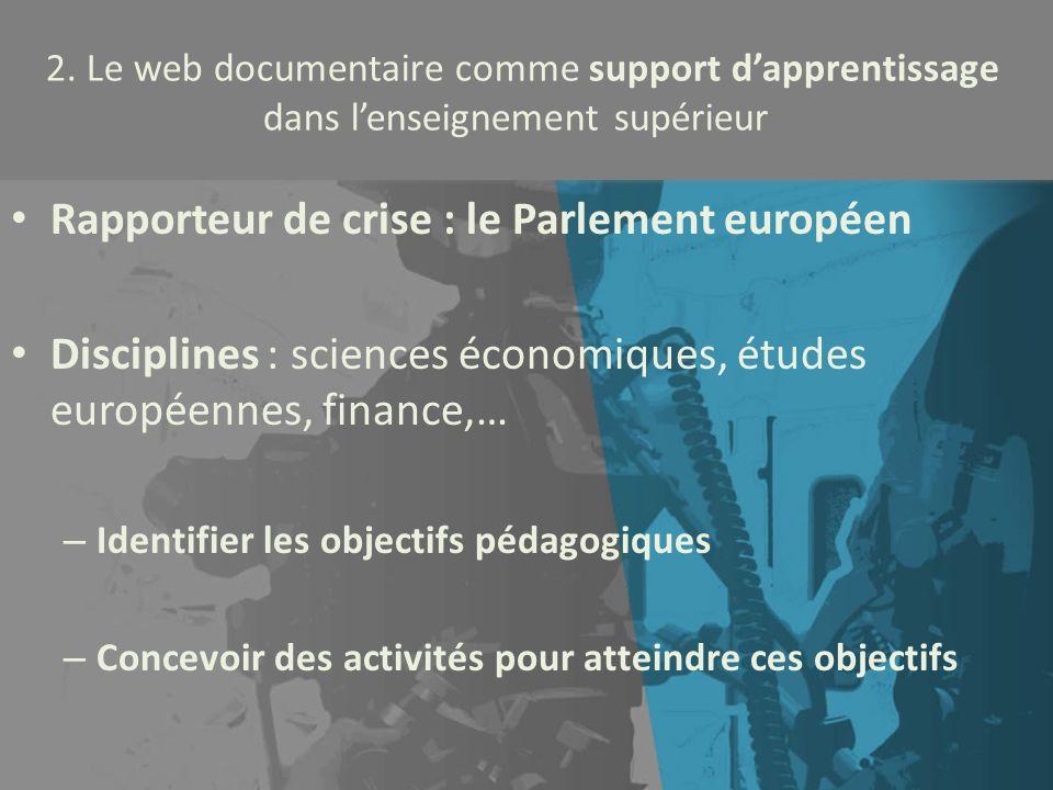 Rapporteur de crise : le Parlement européen