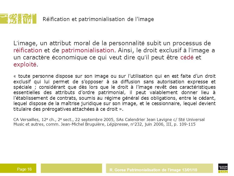 Réification et patrimonialisation de l'image