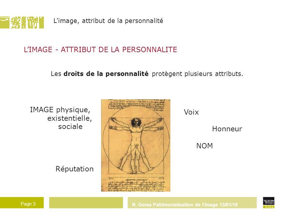 L'IMAGE - ATTRIBUT DE LA PERSONNALITE