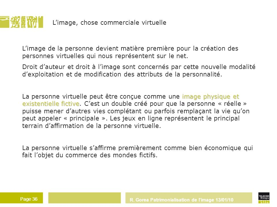 L'image, chose commerciale virtuelle