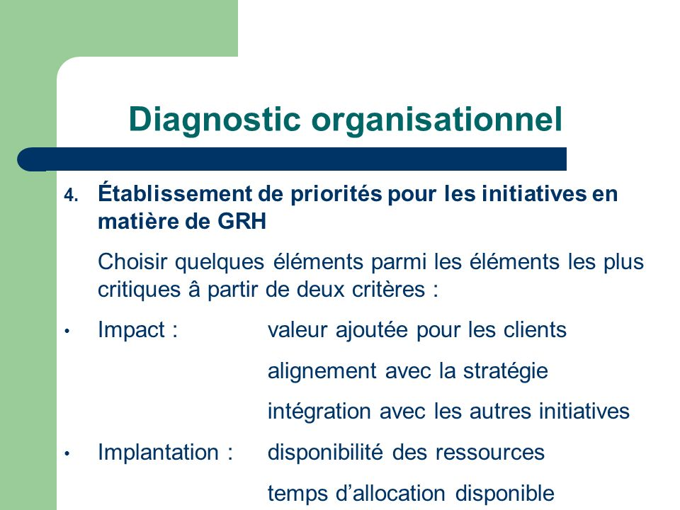 Diagnostic organisationnel