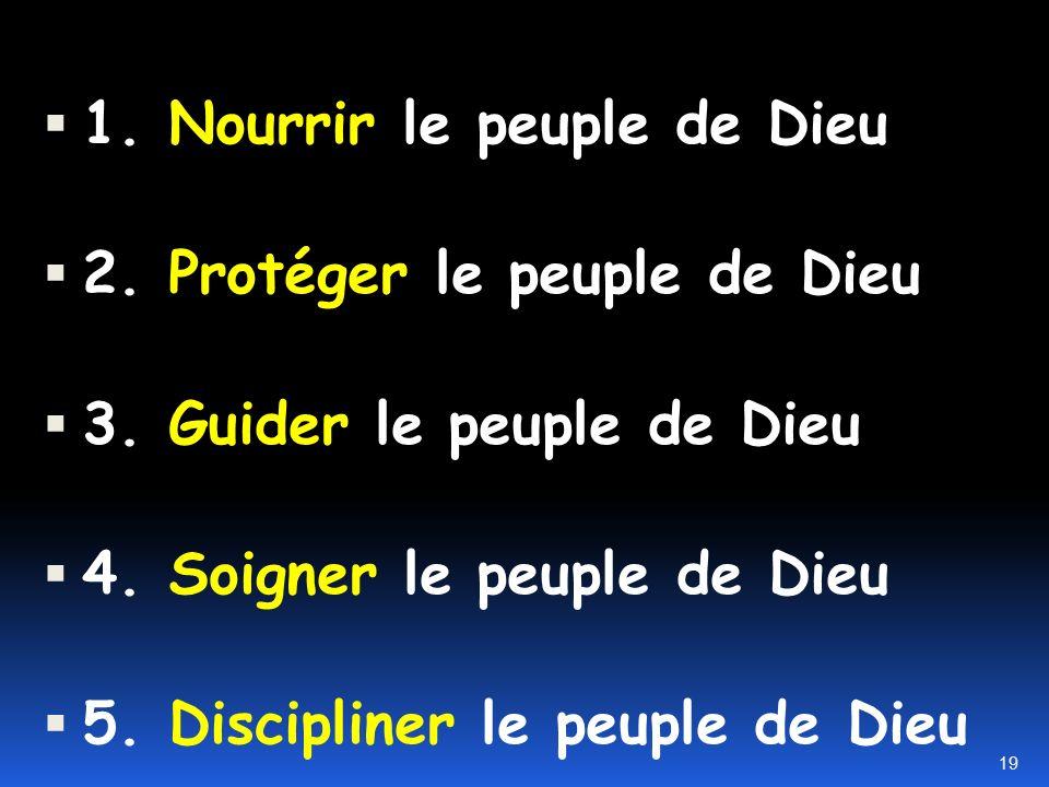 1. Nourrir le peuple de Dieu