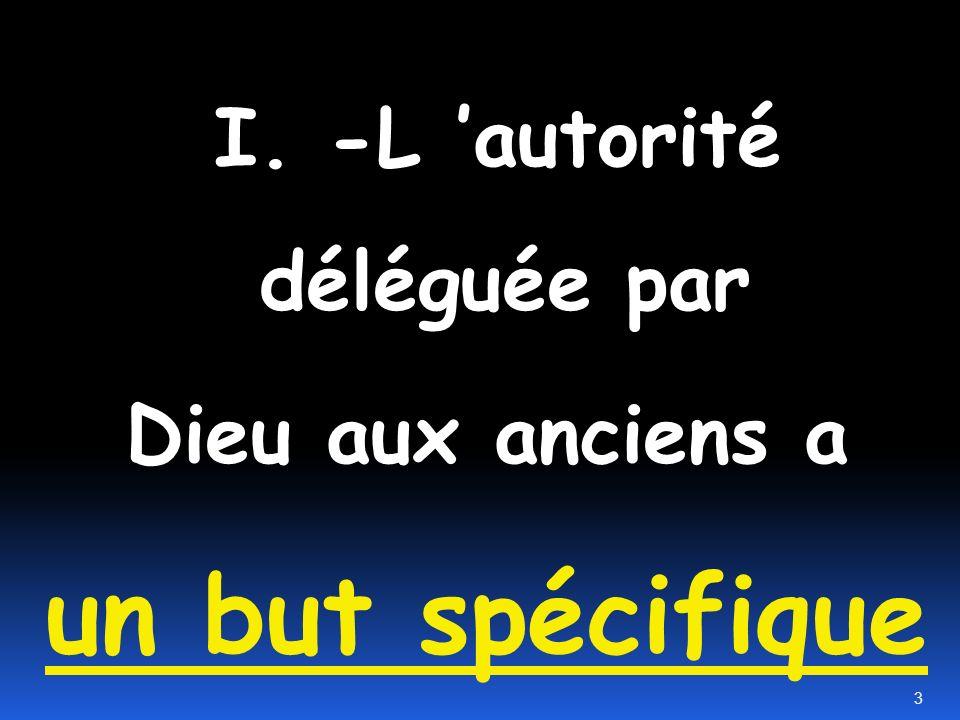 I. -L 'autorité déléguée par