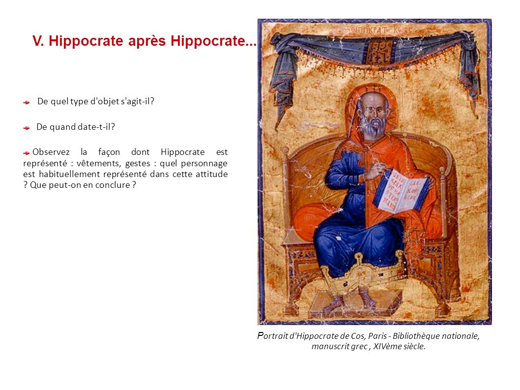 V. Hippocrate après Hippocrate...