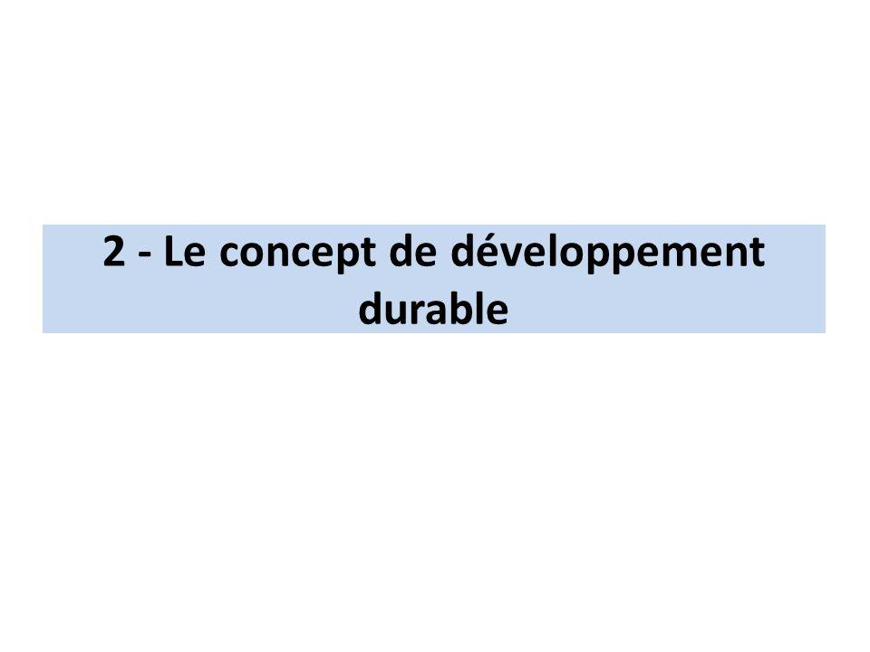 2 - Le concept de développement durable