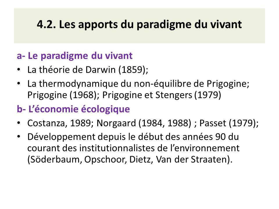 4.2. Les apports du paradigme du vivant