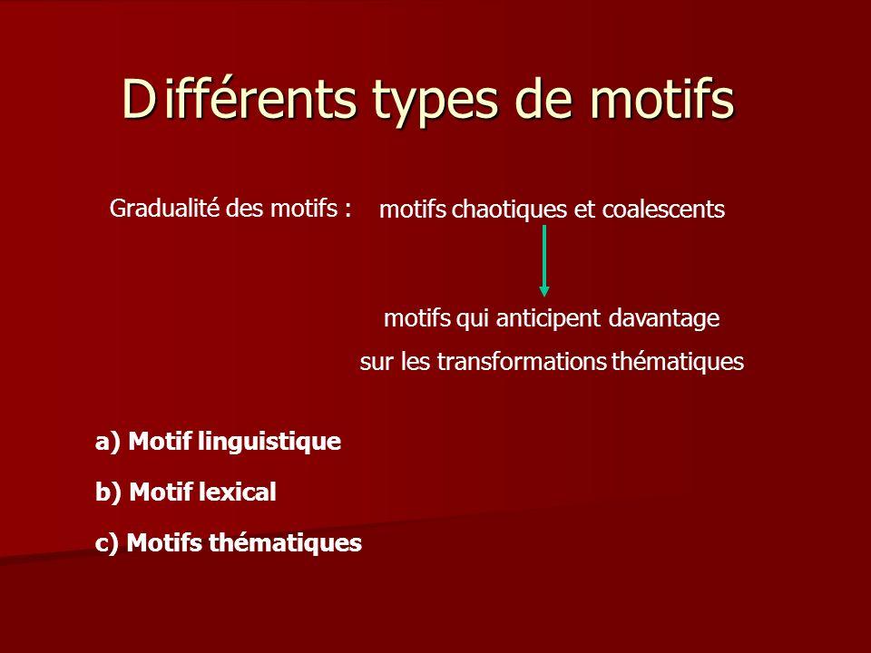 D ifférents types de motifs