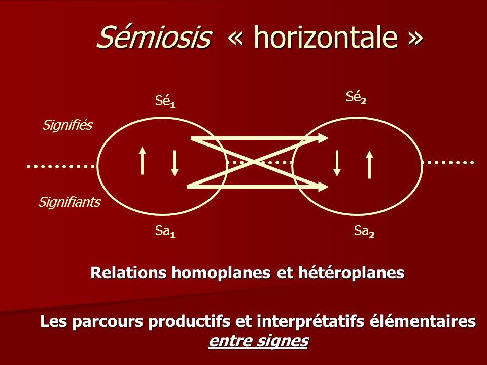 Sémiosis « horizontale »