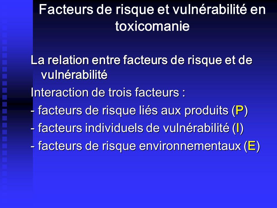 Facteurs de risque et vulnérabilité en toxicomanie