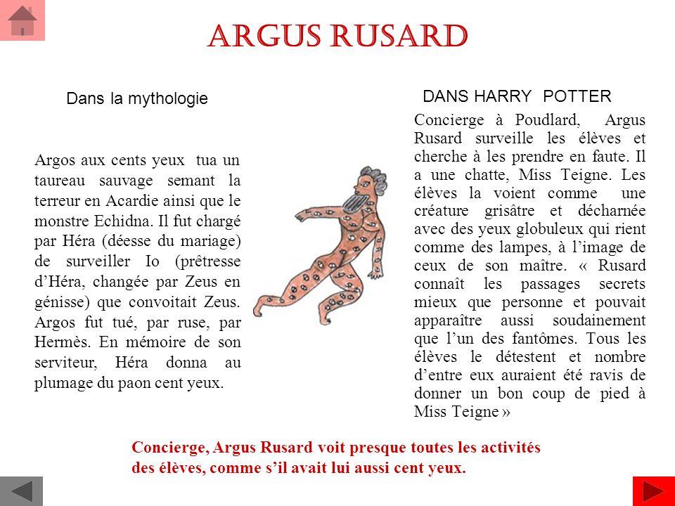 Argus Rusard Dans la mythologie
