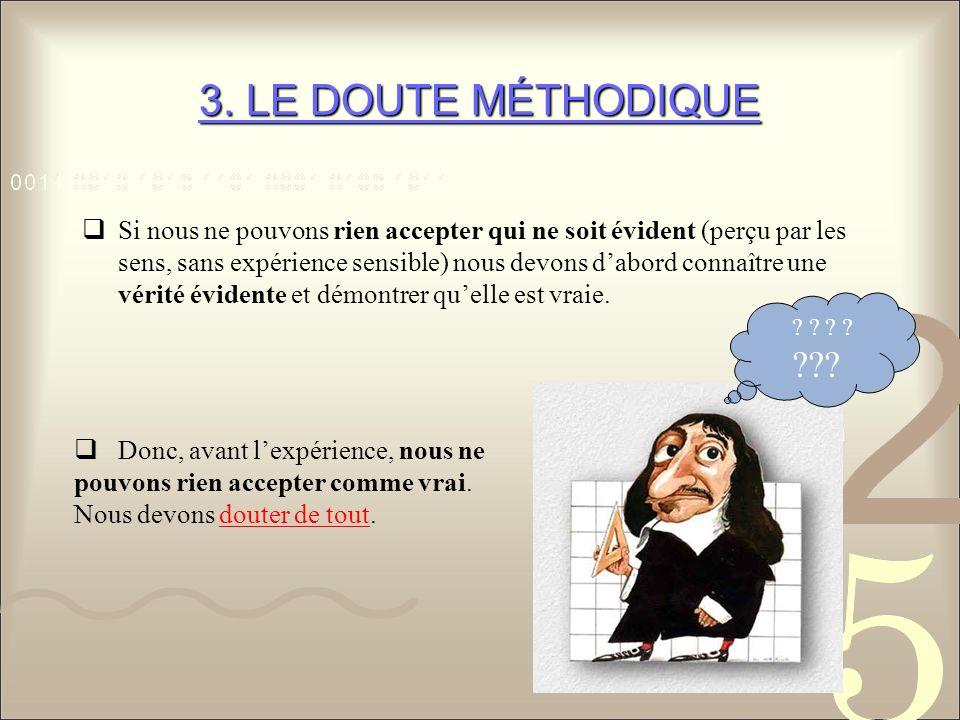 3. LE DOUTE MÉTHODIQUE