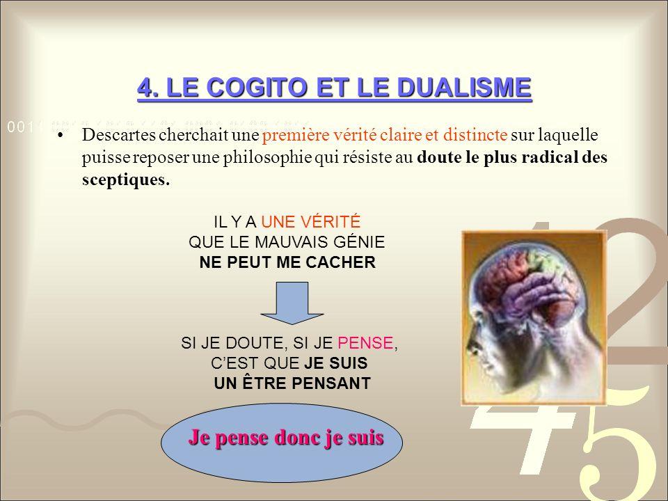 4. LE COGITO ET LE DUALISME