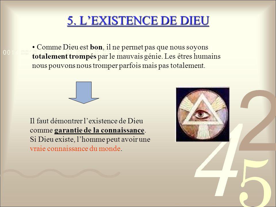 5. L'EXISTENCE DE DIEU