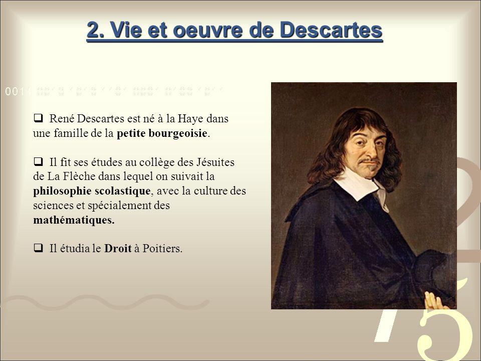 2. Vie et oeuvre de Descartes
