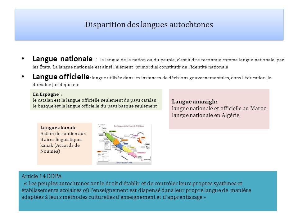 Disparition des langues autochtones
