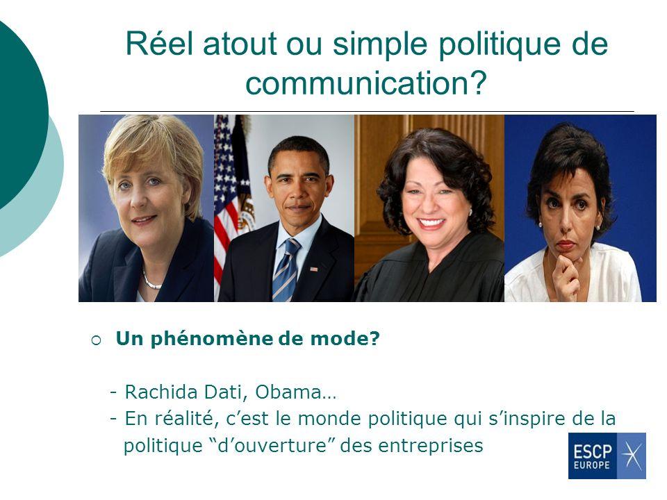 Réel atout ou simple politique de communication