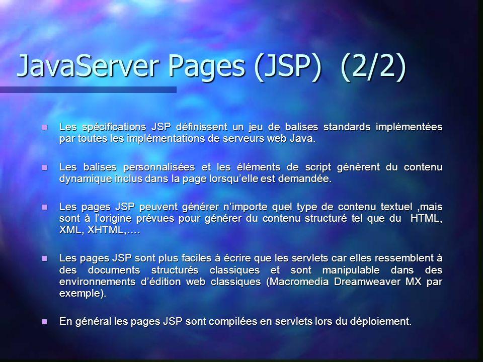 JavaServer Pages (JSP) (2/2)