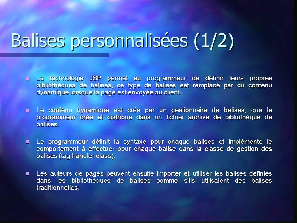 Balises personnalisées (1/2)