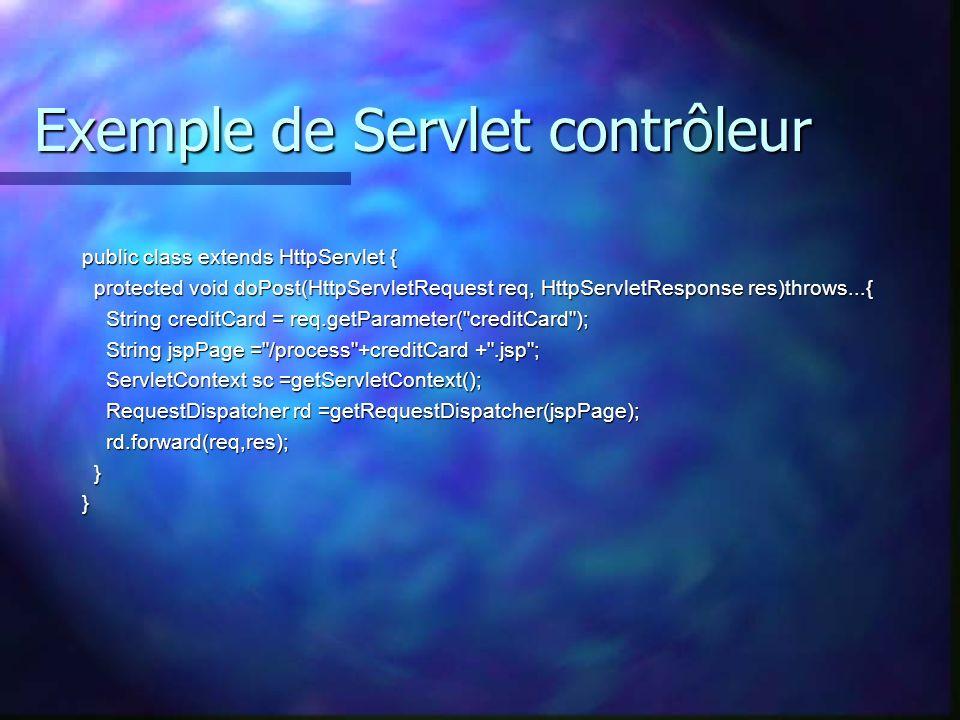 Exemple de Servlet contrôleur