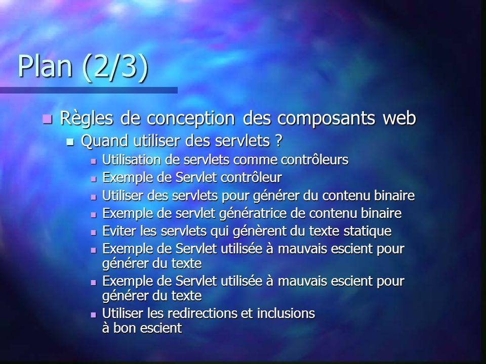 Plan (2/3) Règles de conception des composants web