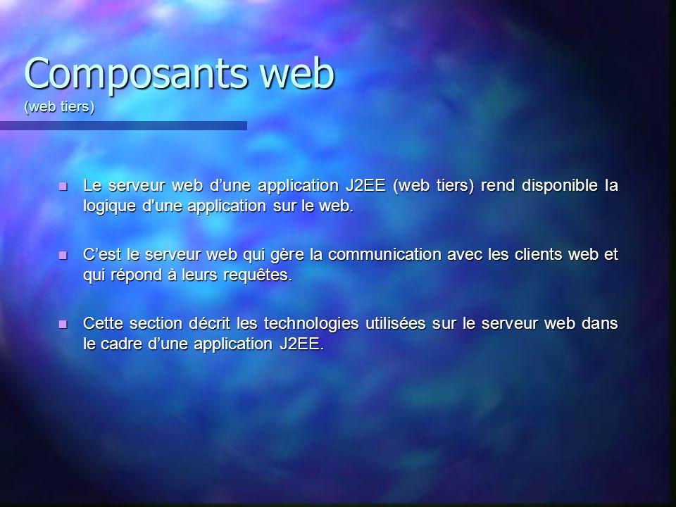 Composants web (web tiers)