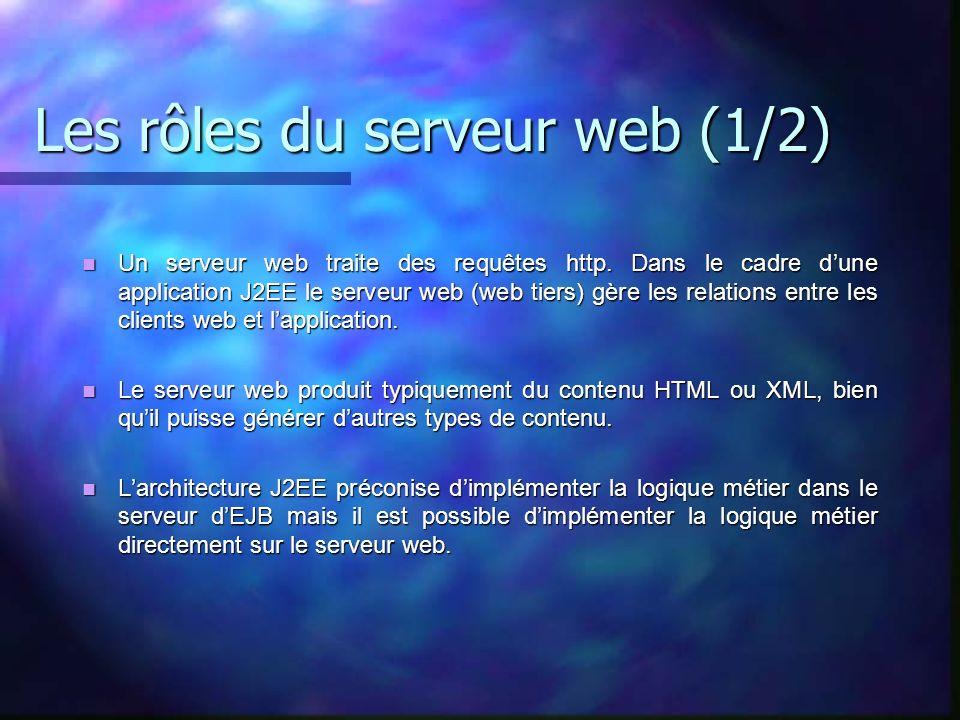 Les rôles du serveur web (1/2)