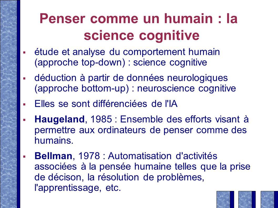 Penser comme un humain : la science cognitive