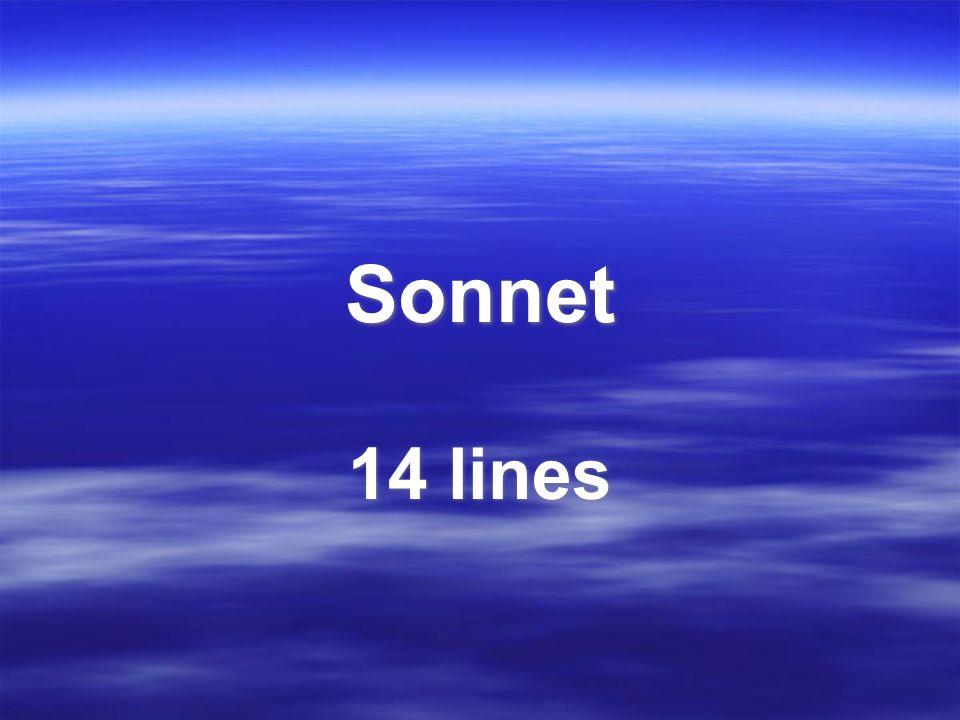Sonnet 14 lines