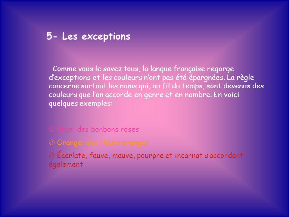 5- Les exceptions