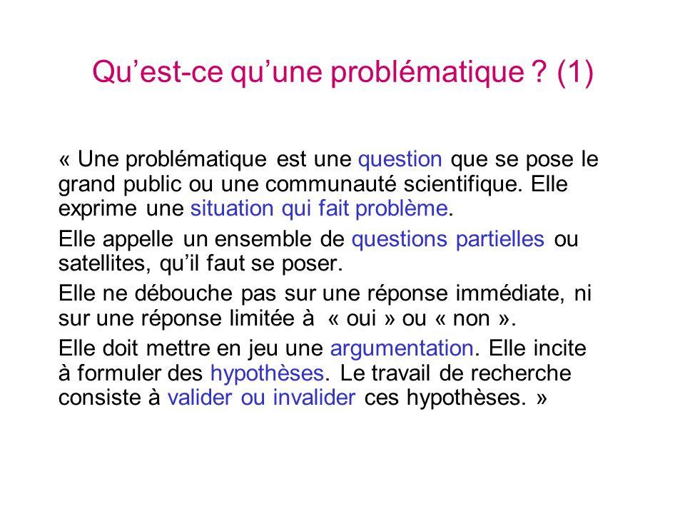 Qu'est-ce qu'une problématique (1)