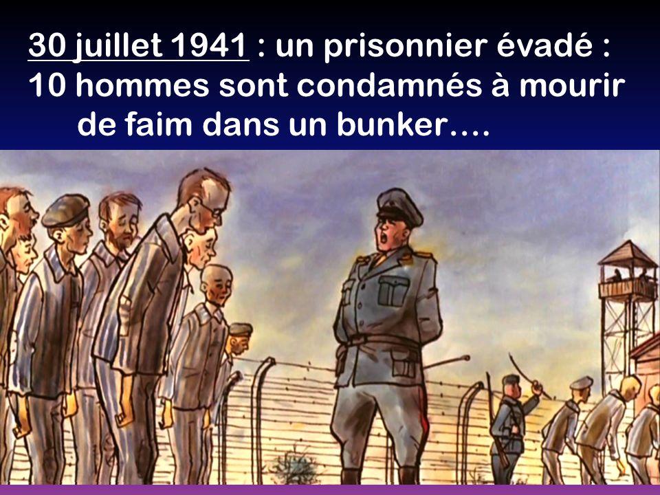 30 juillet 1941 : un prisonnier évadé :