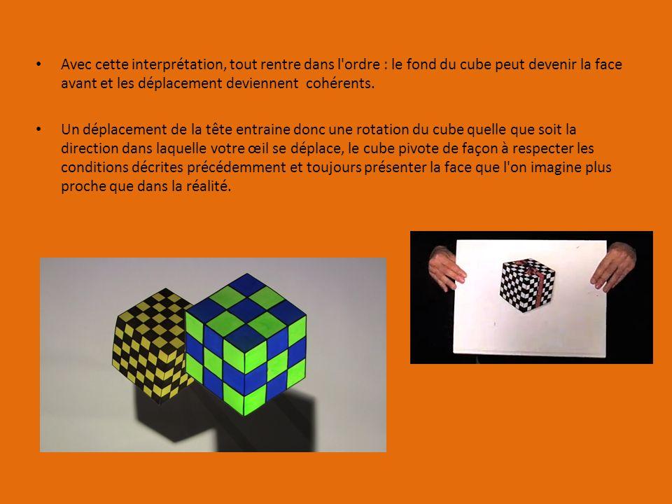 Avec cette interprétation, tout rentre dans l ordre : le fond du cube peut devenir la face avant et les déplacement deviennent cohérents.