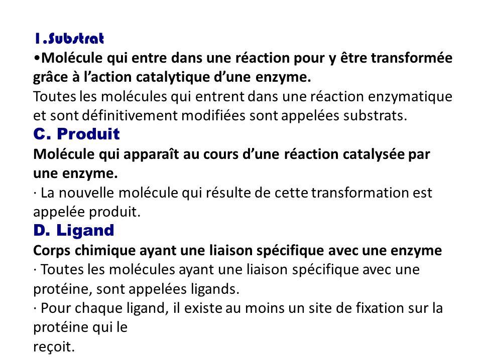 Substrat Molécule qui entre dans une réaction pour y être transformée grâce à l'action catalytique d'une enzyme.