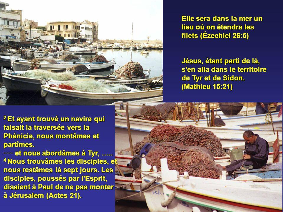 Elle sera dans la mer un lieu où on étendra les filets (Ézechiel 26:5)