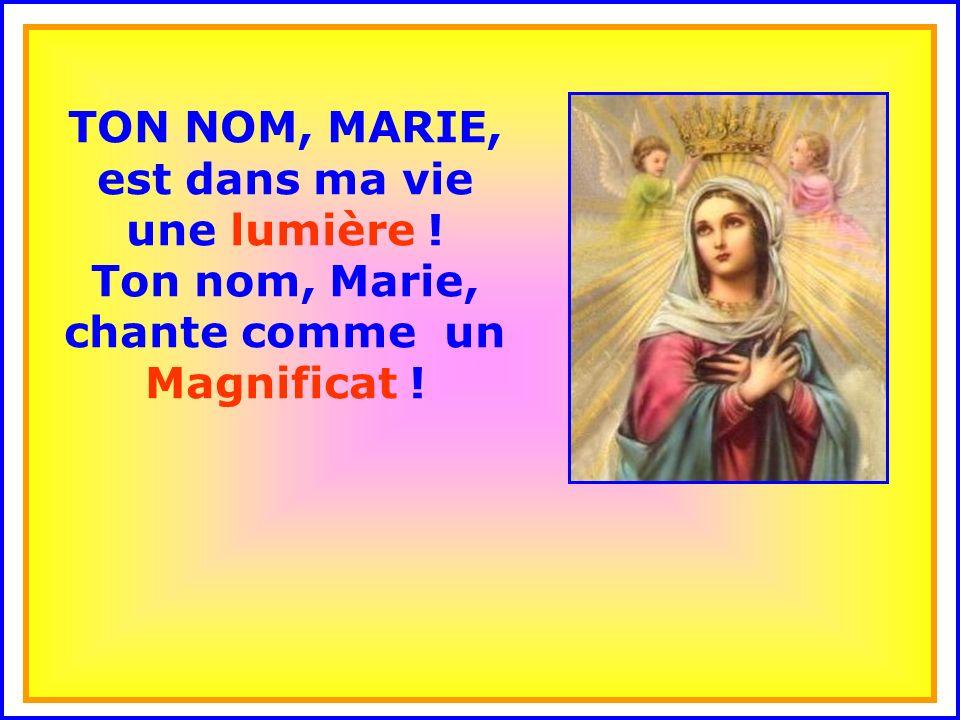 TON NOM, MARIE, est dans ma vie une lumière