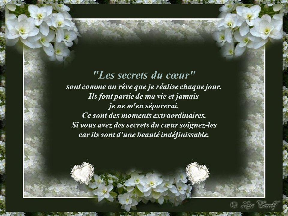 Les secrets du cœur sont comme un rêve que je réalise chaque jour.