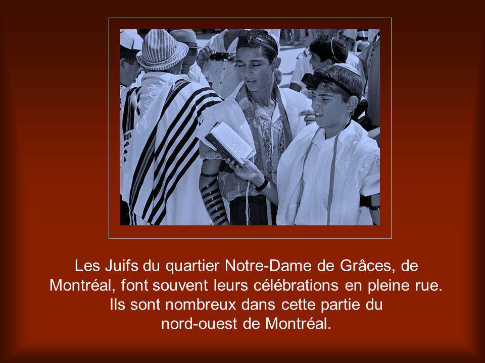 Les Juifs du quartier Notre-Dame de Grâces, de Montréal, font souvent leurs célébrations en pleine rue.