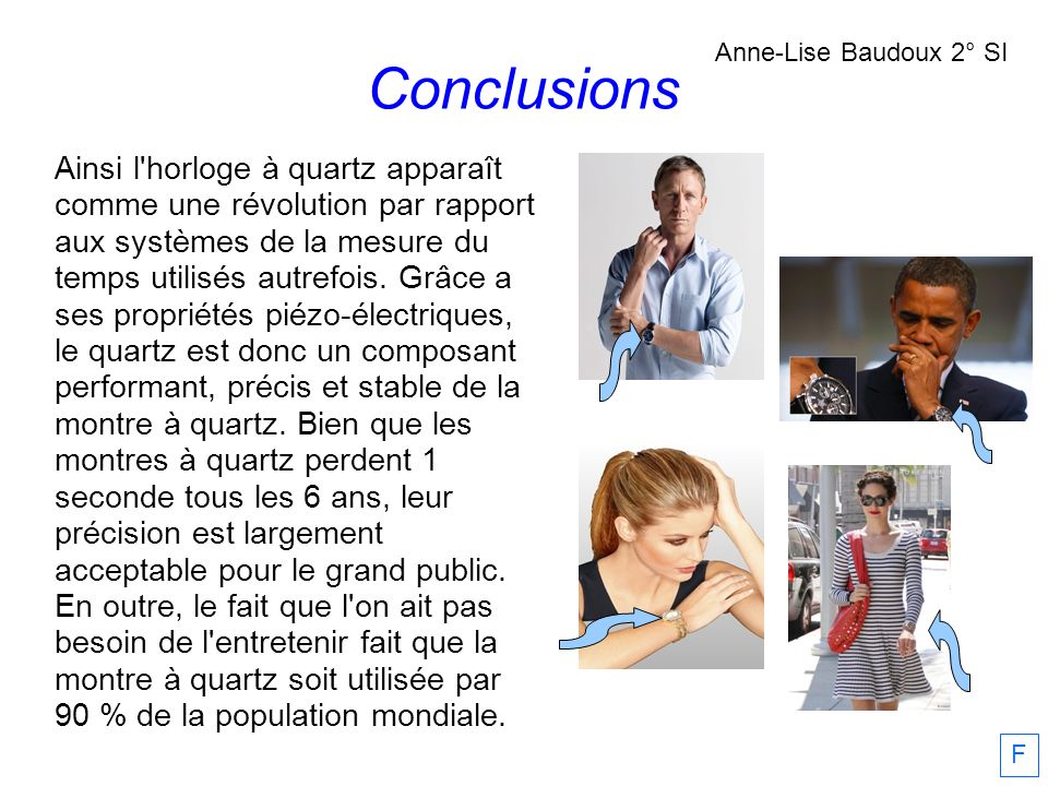Conclusions Anne-Lise Baudoux 2° SI.