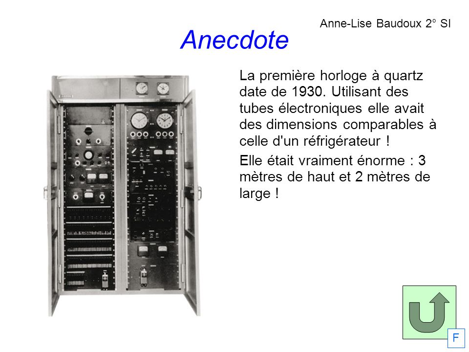 Anecdote Anne-Lise Baudoux 2° SI.