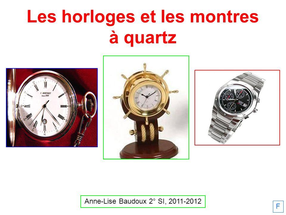 Les horloges et les montres à quartz