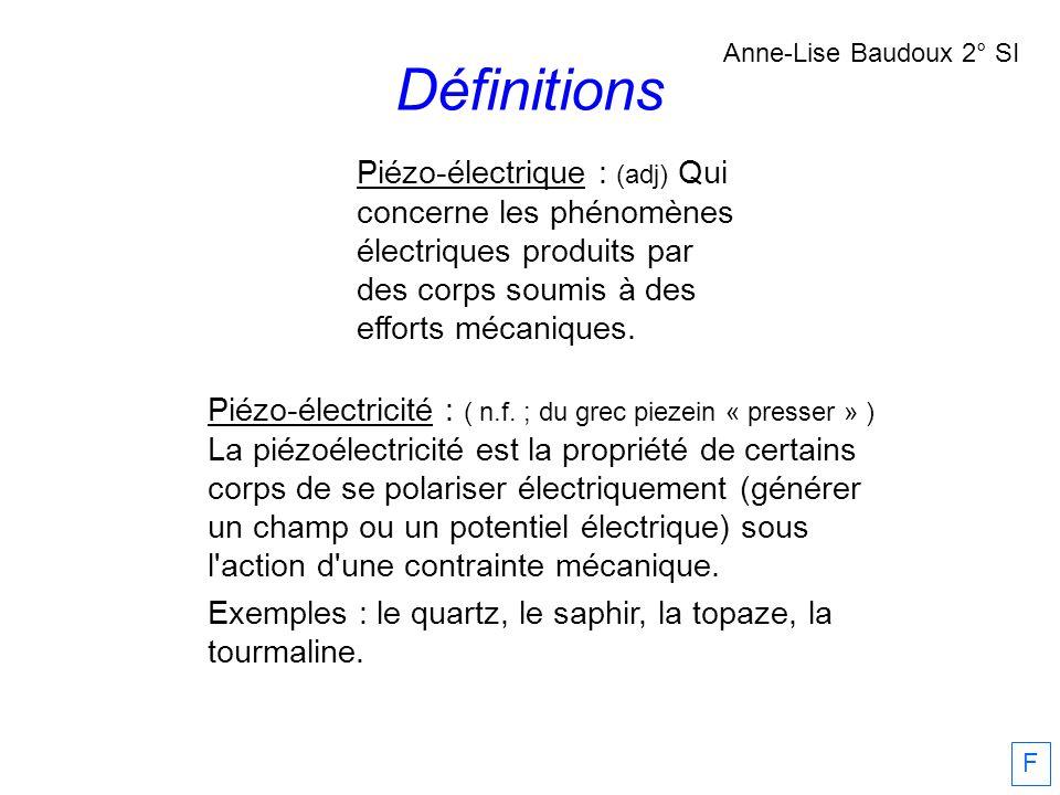 Définitions Anne-Lise Baudoux 2° SI.