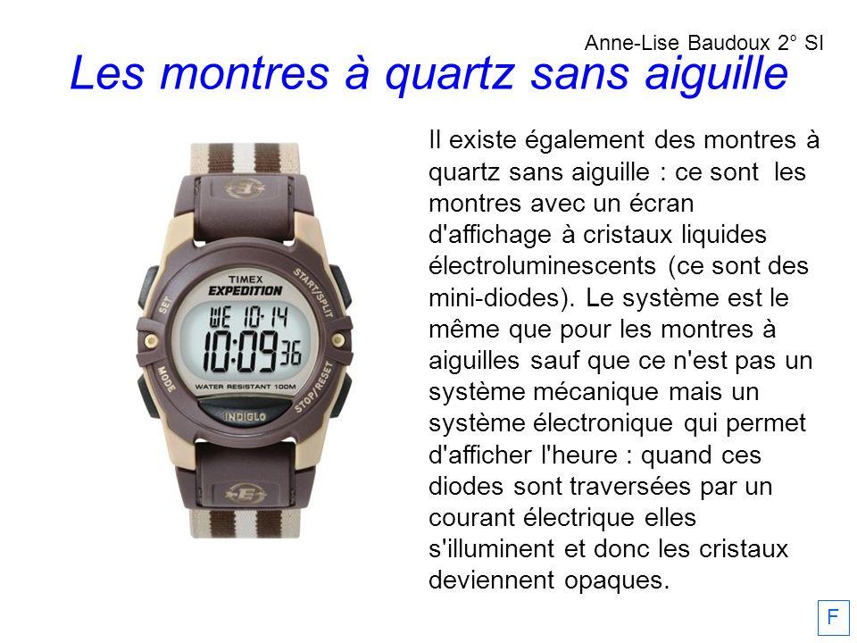 Les montres à quartz sans aiguille