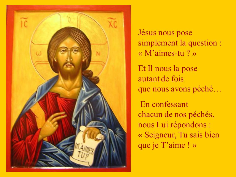 Jésus nous pose simplement la question : « M'aimes-tu »