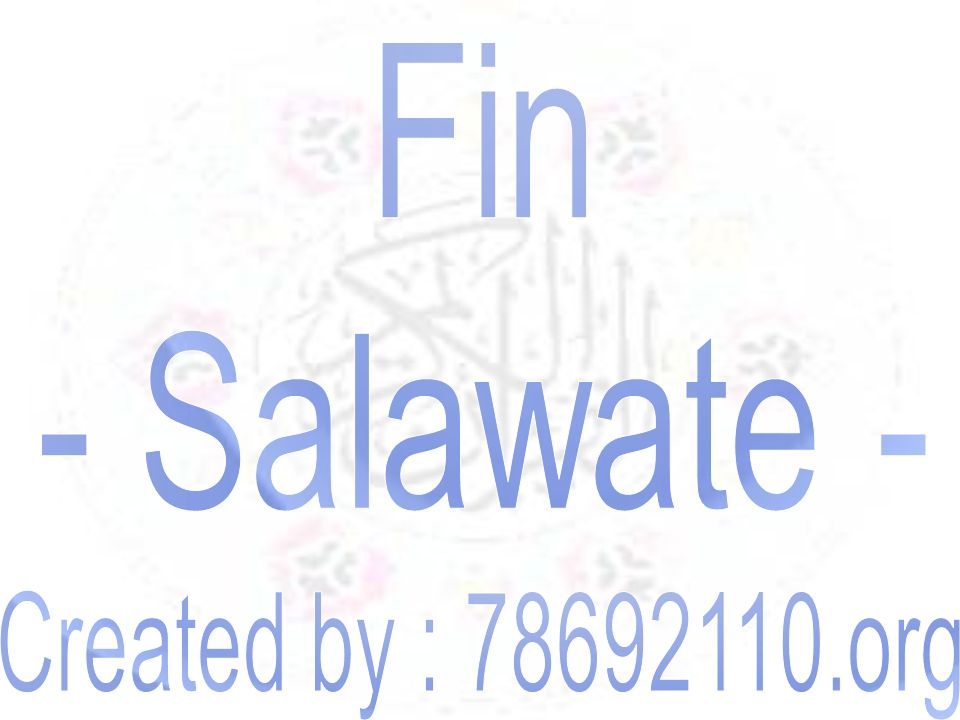 Fin - Salawate - Created by : 78692110.org