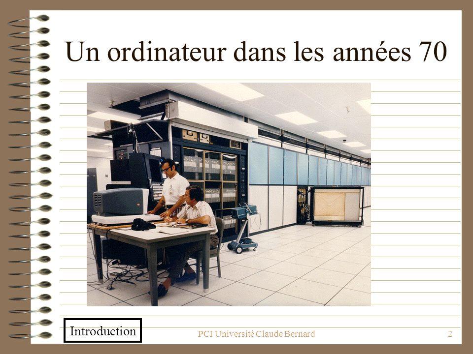 Un ordinateur dans les années 70