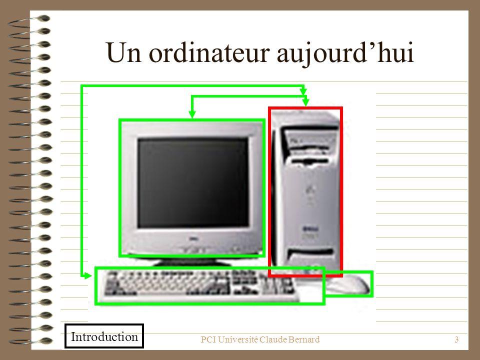 Un ordinateur aujourd'hui