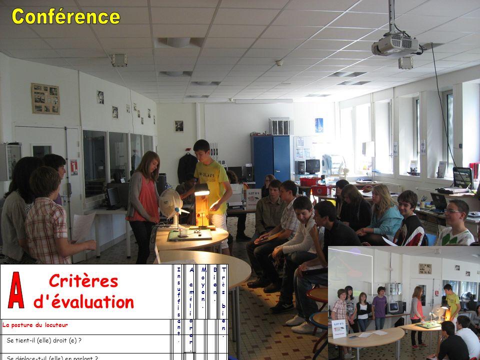 Conférence A Critères d évaluation