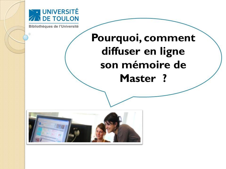 Pourquoi, comment diffuser en ligne son mémoire de Master